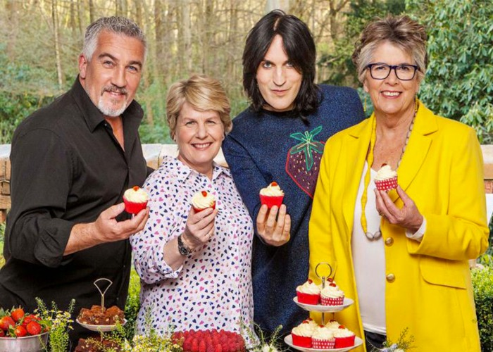 The Great British Bake Off presenting team