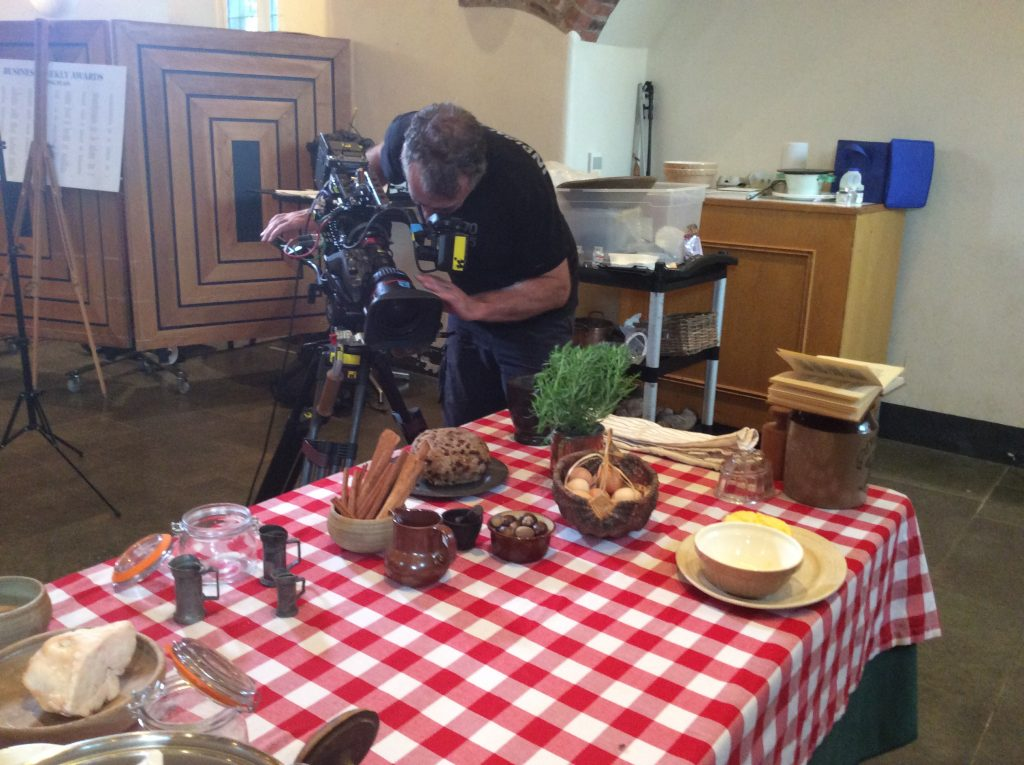 Great British Bake-Off filming set up